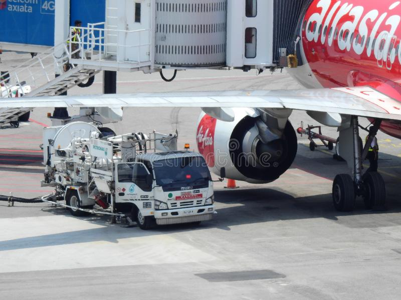 Refuelling stock photography
