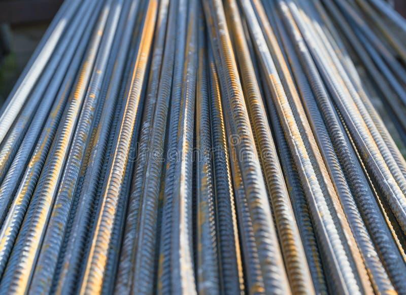 Refuerce la barra de hierro de acero foto de archivo