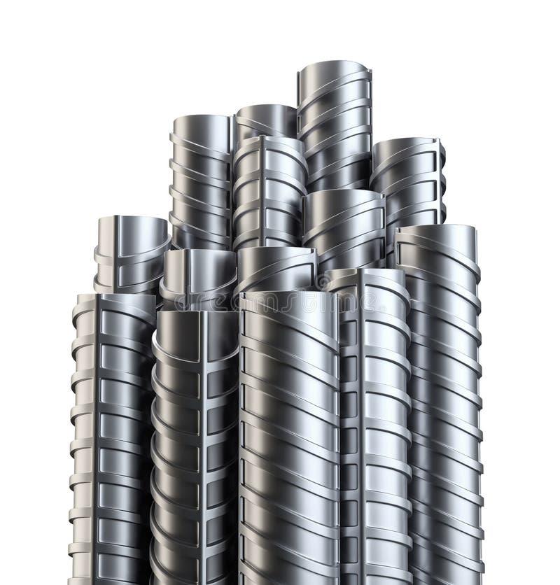 Refuerzos de acero Aislado en blanco ilustración del vector