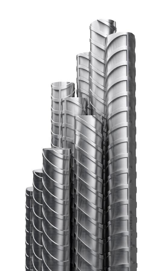 Refuerzos del metal, cierre para arriba stock de ilustración