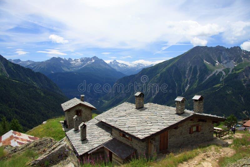 Download Refuge Bertone stock image. Image of water, alps, mountain - 16867333