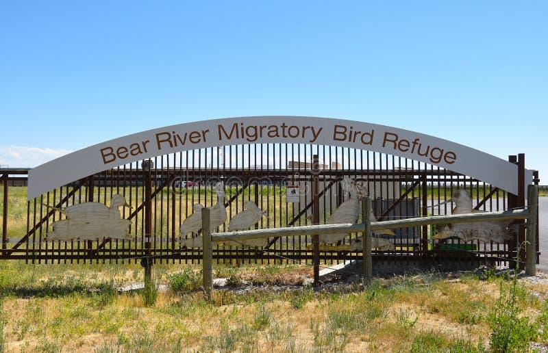 Refuge d'oiseau migrateur de rivière d'ours images stock