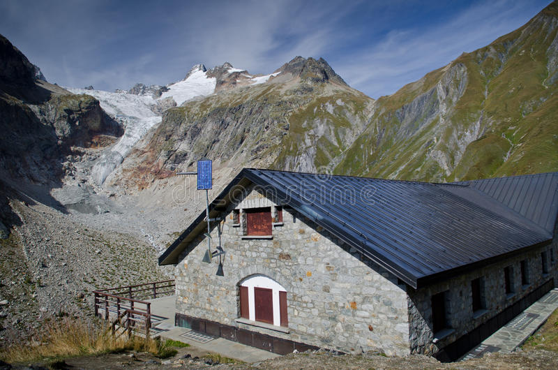 Download Refuge In The Mountains Of Mont Blanc Stock Photo - Image: 26785998