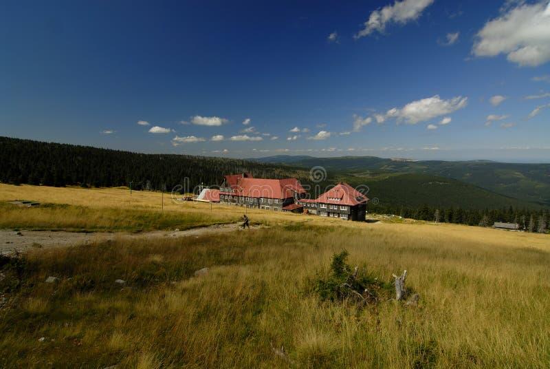 Refuge on Szrenicka Alp. View to Refuge on Szrenicka Alp royalty free stock photo