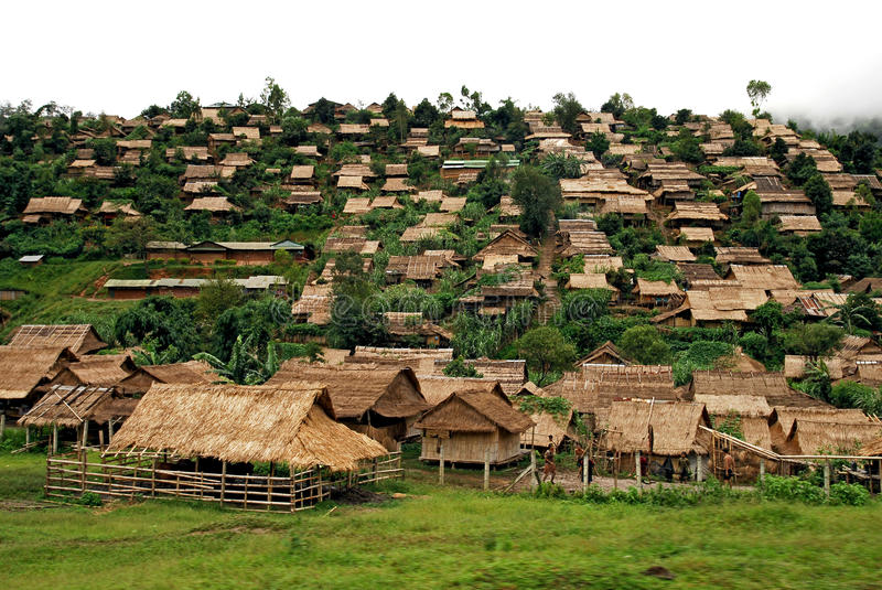 Refugee camp, mae sod, tak, thailand. View of Refugee camp, mae sod, tak, thailand stock image