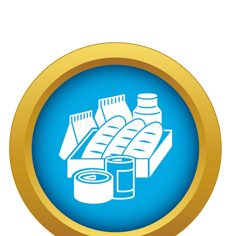 Refugee help food icon blue vector isolated stock illustration