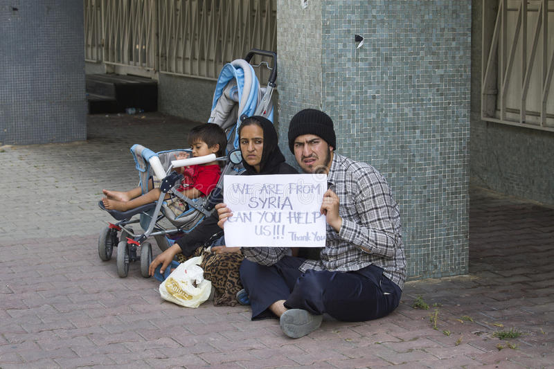 Download Refugees From Syria Are Asking For Help On The Street In Istanbul, Turkey Editorial Stock Photo - Image of muslim, compassion: 57626778