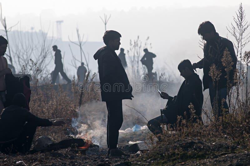 refugiado foto de archivo