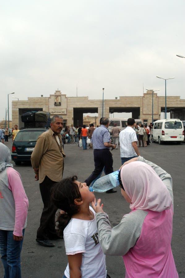 Refugiados árabes foto de archivo libre de regalías