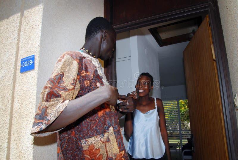 Refugiados africanos en Israel fotografía de archivo