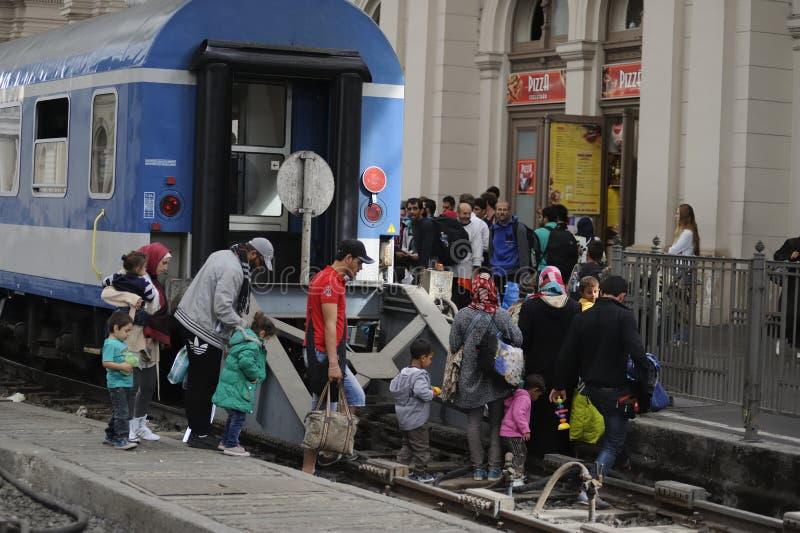 Refugiados en Hungría fotografía de archivo libre de regalías