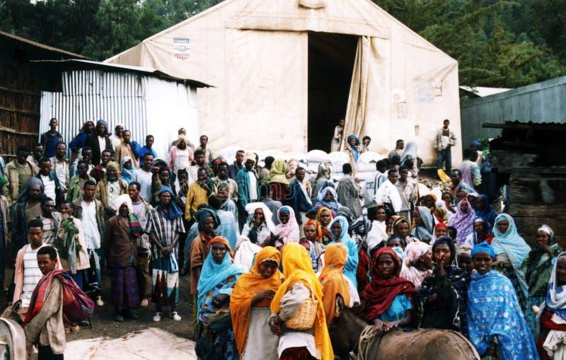 Refugiados etíopes fotografia de stock royalty free