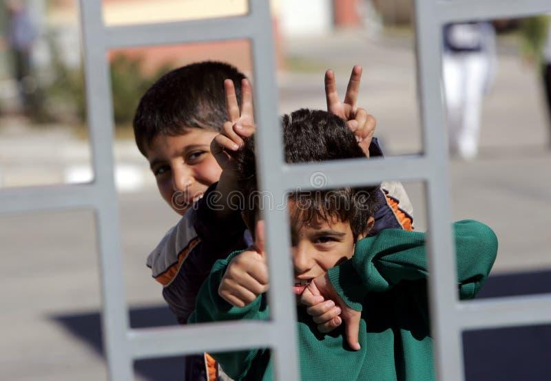 Refugiados sirios Bulgaria imagenes de archivo