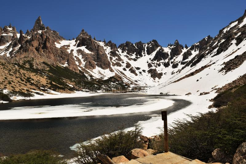 Refugio的弗雷,阿根廷湖 免版税库存图片