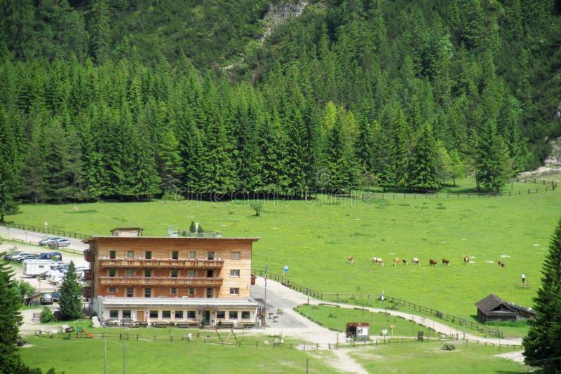 Refugio горы в Альпах стоковая фотография