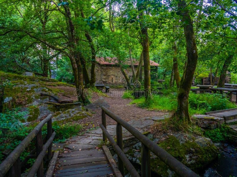 Refugio de Verdes в Coristanco - Coruna стоковые изображения