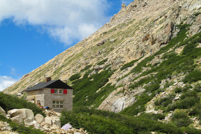 Refugio Frey в Bariloche стоковое изображение