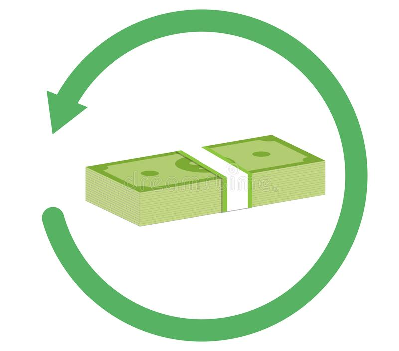 Refund money icon on white background. flat style. refund money icon for your web site design, logo, app, UI. refund sign. vector illustration