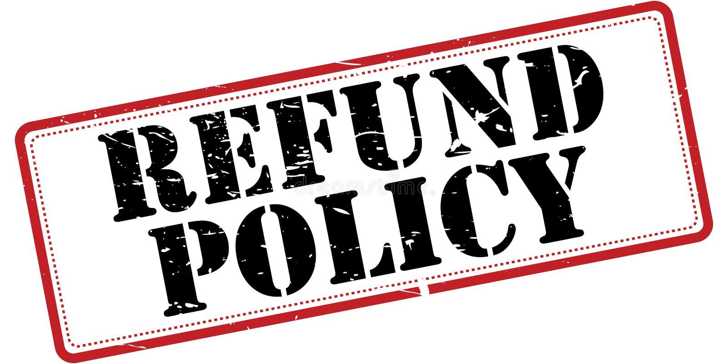 Refund policy stock illustration