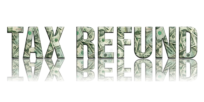 refund2 φόρος διανυσματική απεικόνιση