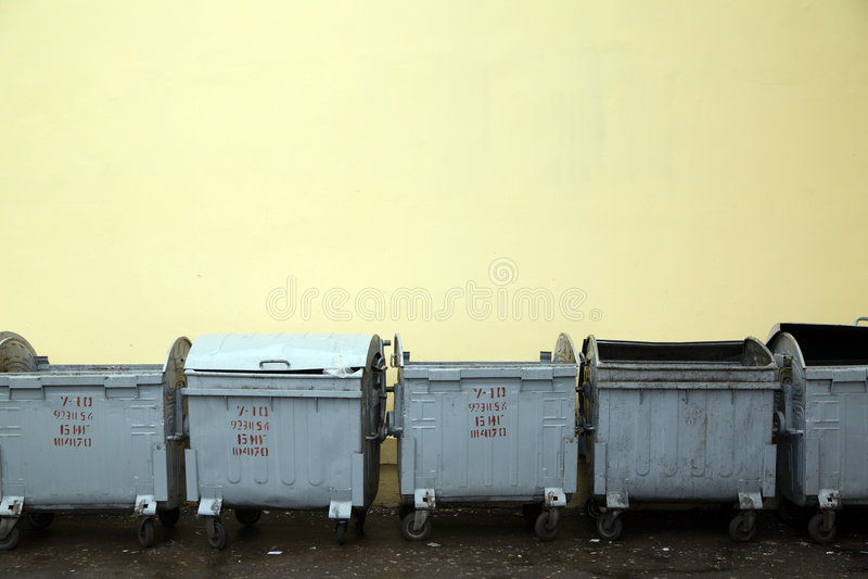 Refuse bins royalty free stock image