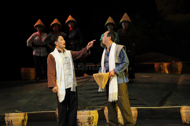 Refute -Jiangxi opera a steelyard. Jiangxi opera a steelyard is adapted from a true story: the last century fortys, the protagonists father runs an oil mill in stock photos