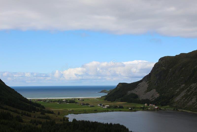 Refvik, Norvège images stock