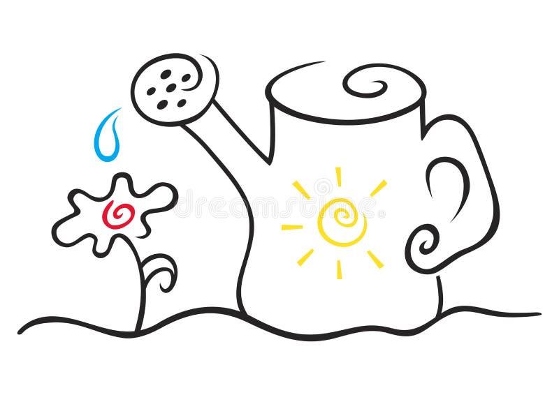 Regadera libre illustration