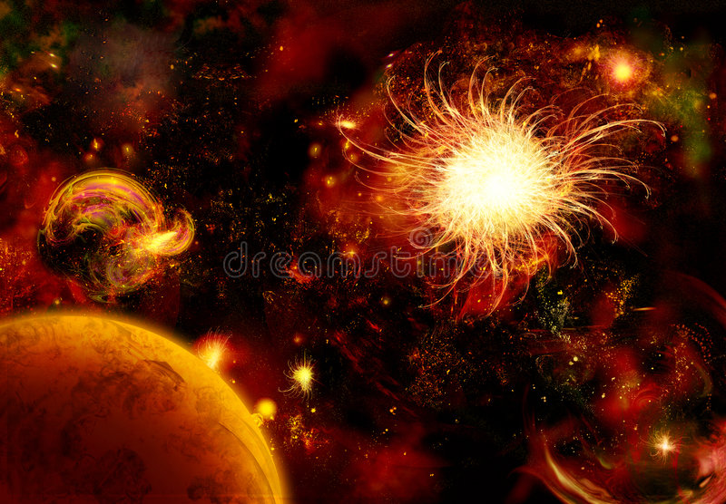 regain comme l'espace de Saturne de regard illustration libre de droits