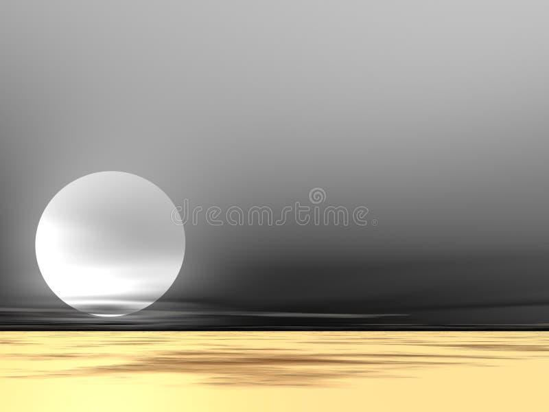 Regain de désert illustration stock
