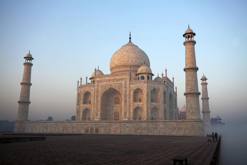 Regain de matin chez le Taj Mahal, Agra, Inde photo stock