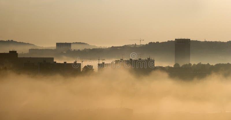 Regain de matin dans la ville - Bratislava image libre de droits