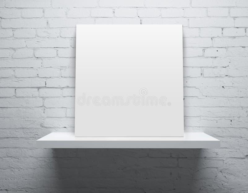 Regal mit Plakat lizenzfreies stockbild