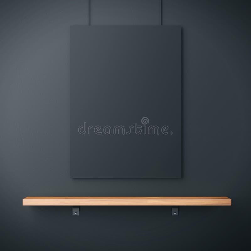 Regal und schwarzes Plakat lizenzfreie stockbilder