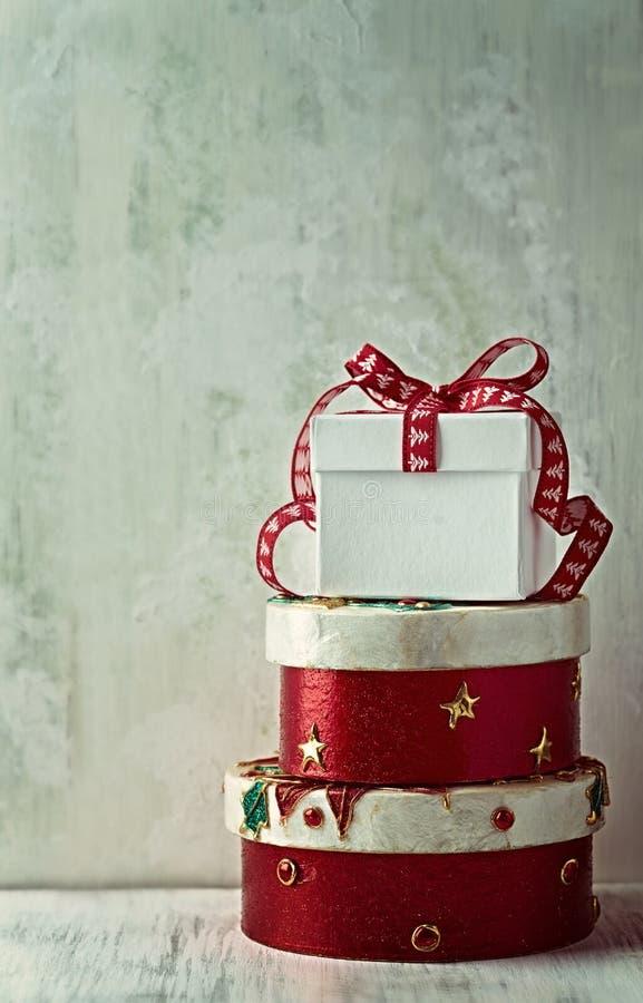 Regali d'annata di Natale fotografia stock libera da diritti
