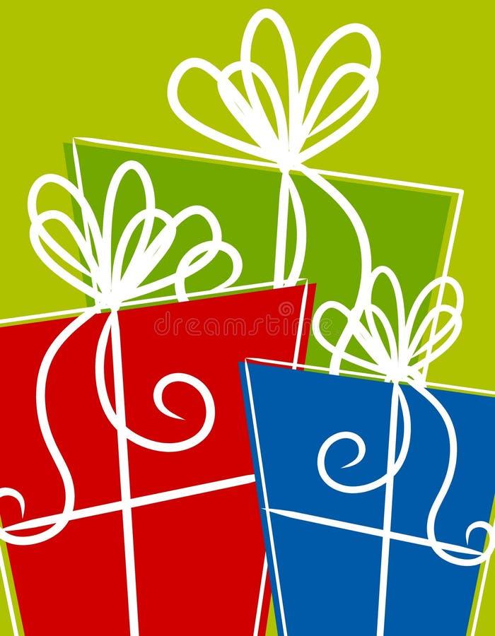 Regali dei regali di Natale royalty illustrazione gratis