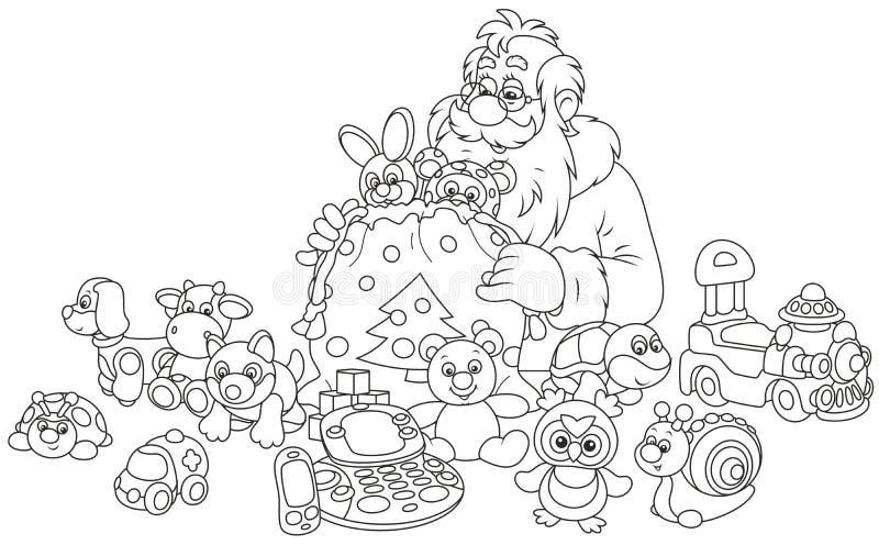 Regali del Babbo Natale illustrazione di stock
