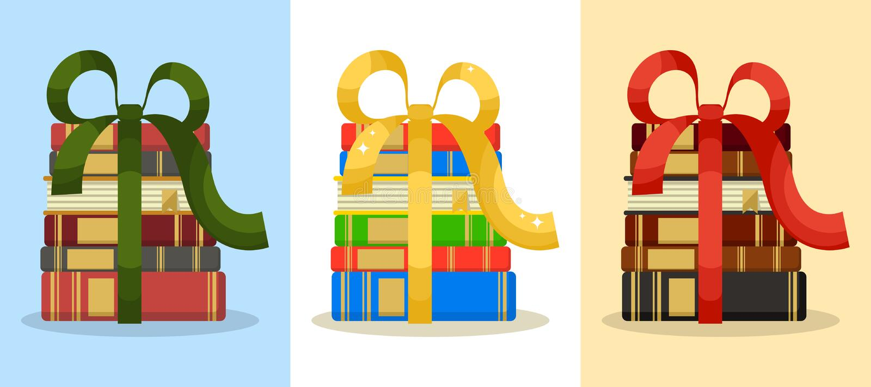 Regali del libro illustrazione di stock