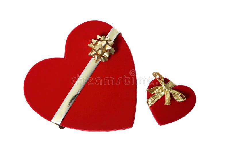Regali di giorno dei biglietti di S. Valentino fotografie stock