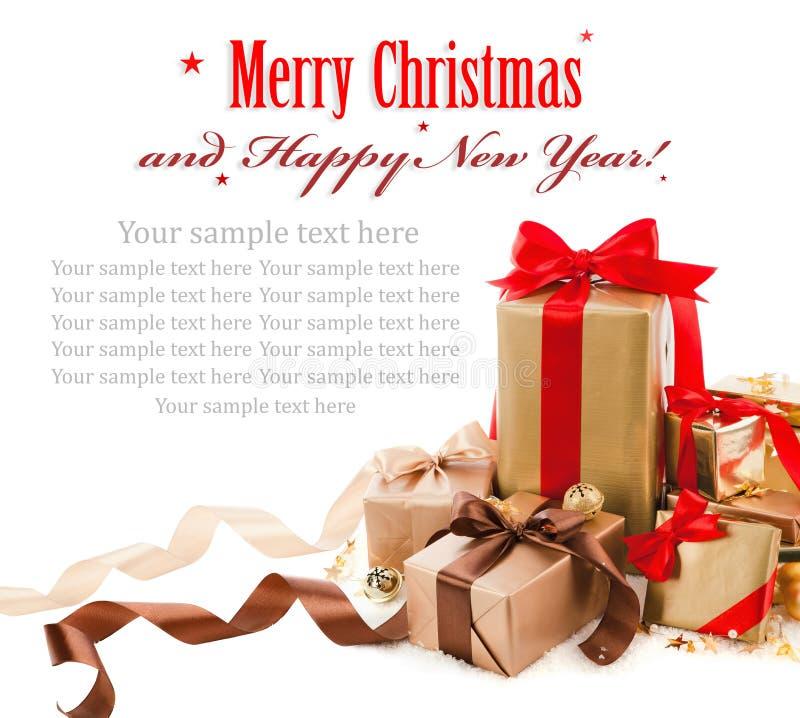 Regali di Natale fotografie stock