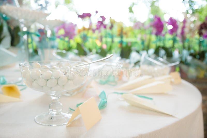 Regali di nozze per l'ospite fotografia stock libera da diritti