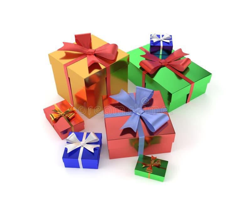 regali isolati su priorità bassa bianca immagini stock libere da diritti