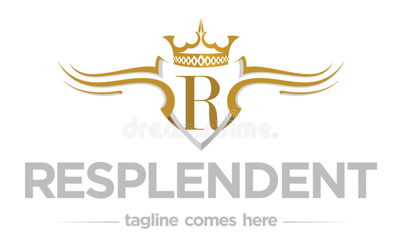 Regality loga szablon royalty ilustracja