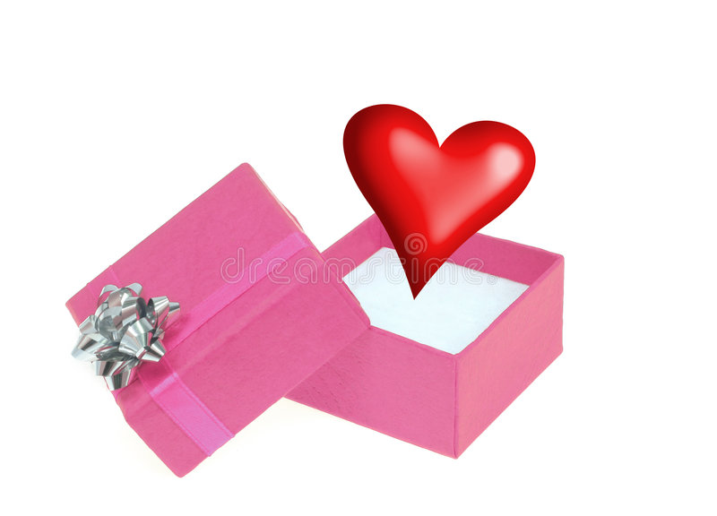 Regalo #2 de la tarjeta del día de San Valentín foto de archivo