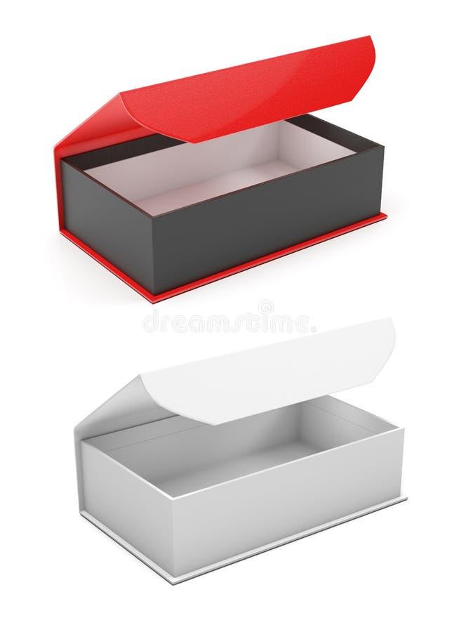 Regalo Boxes Joyeros abiertos con el corchete magnético ejemplo de la representaci?n 3d aislado libre illustration