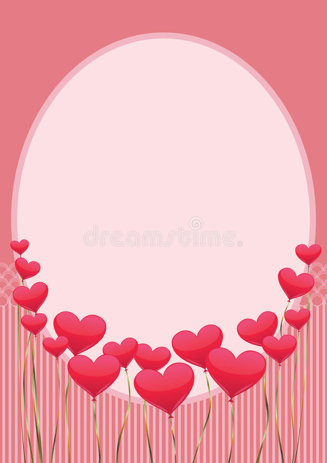 Regalo con rosa vertical de los corazones imágenes de archivo libres de regalías