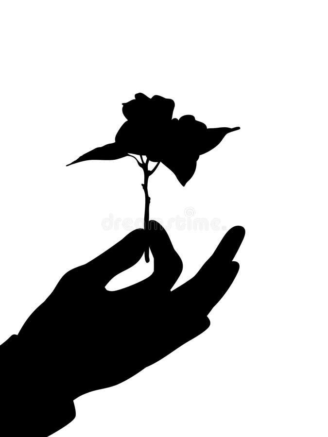 Regalo de la flor stock de ilustración