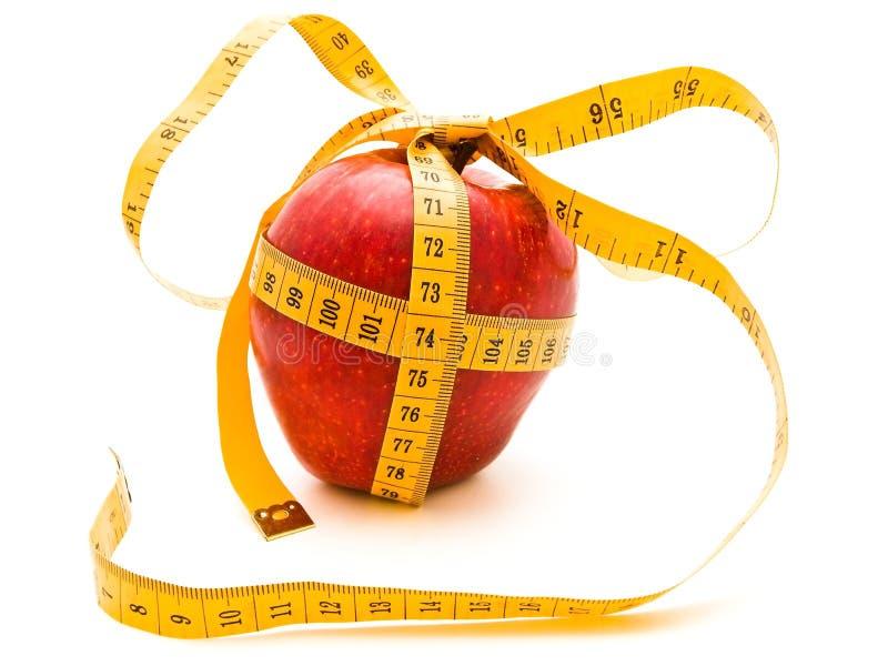 Regalo de la manzana de la dieta fotos de archivo