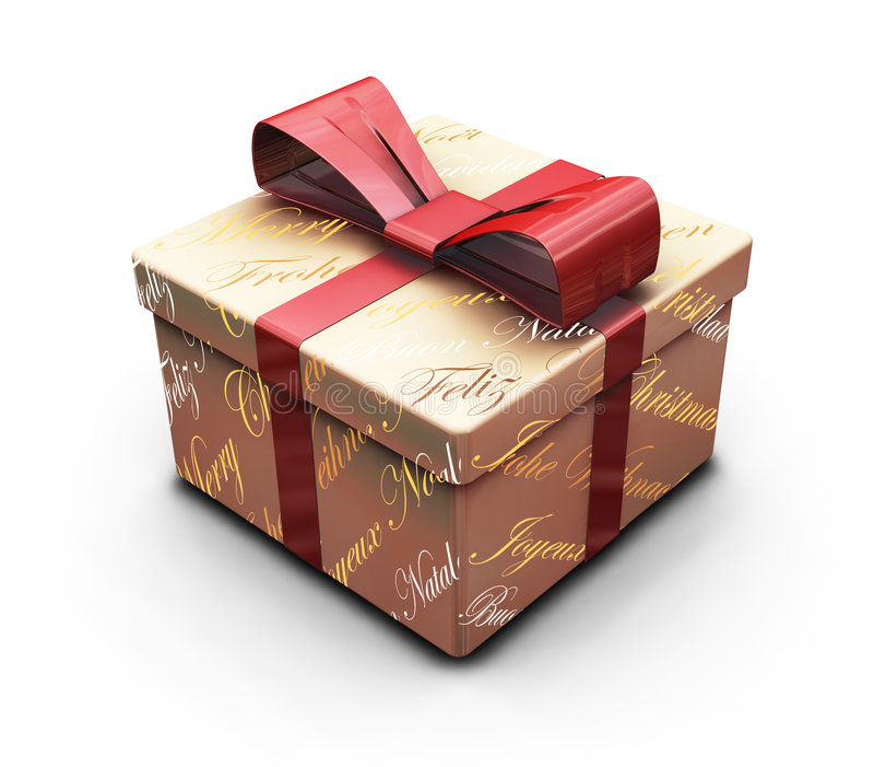 Download Regalo de la Navidad stock de ilustración. Ilustración de pila - 1286282