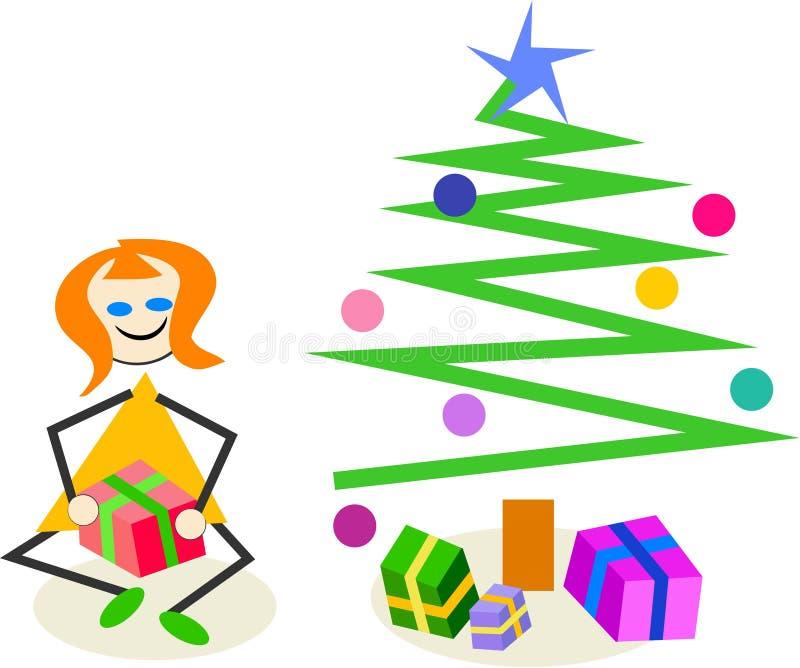 Regalo de la Navidad stock de ilustración